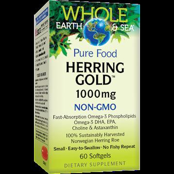 Whole Earth and Sea Herring Gold 1000mg 60 softgels W54972