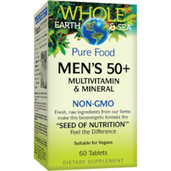 Whole Earth and Sea Men039s Multi 50 Non GMO 60 tabs W55030