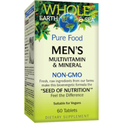 Whole Earth and Sea Men039s Multi Non GMO 60 tabs W55047