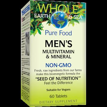 Whole Earth and Sea Men039s Multi Non GMO 60 tabs W55047