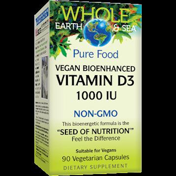 Whole Earth and Sea Vitamin D3 1000 IU 90 vegcaps W55122