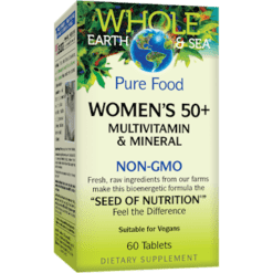 Whole Earth and Sea Women039s Multi 50 NON GMO 60 tabs W55016