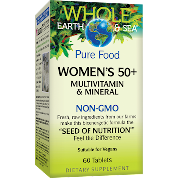 Whole Earth and Sea Women039s Multi 50 NON GMO 60 tabs W55016
