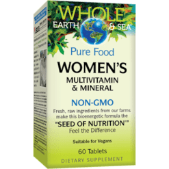 Whole Earth and Sea Women039s Multi Non GMO 60 vegtabs W55023
