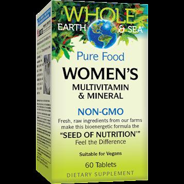 Whole Earth and Sea Women039s Multi Non GMO 60 vegtabs W55023
