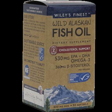 Wileys Finest Wild AK Fish Oil Chol Supp 90 softgels W04159