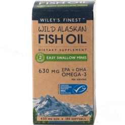 Wileys Finest Wild Alaskan Fish Oil 180 mini sgels W04128