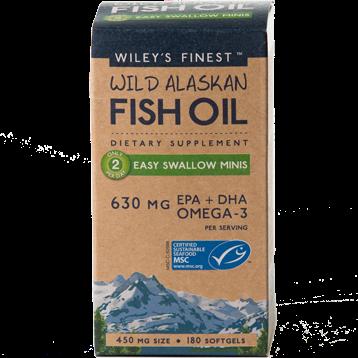 Wileys Finest Wild Alaskan Fish Oil 180 mini sgels W04128