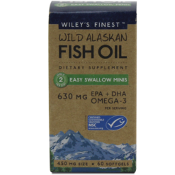Wileys Finest Wild Alaskan Fish Oil 60 mini sgels W67972