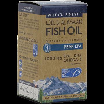 Wileys Finest Wild Alaskan Peak EPA 30 softgels W04012