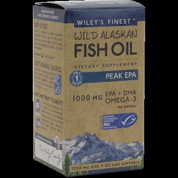 Wileys Finest Wild Alaskan Peak EPA 60 softgels W04074
