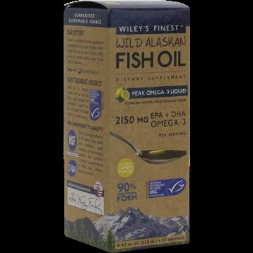 Wileys Finest Wild Alaskan Peak Fish Oil 8.45 fl oz W04142