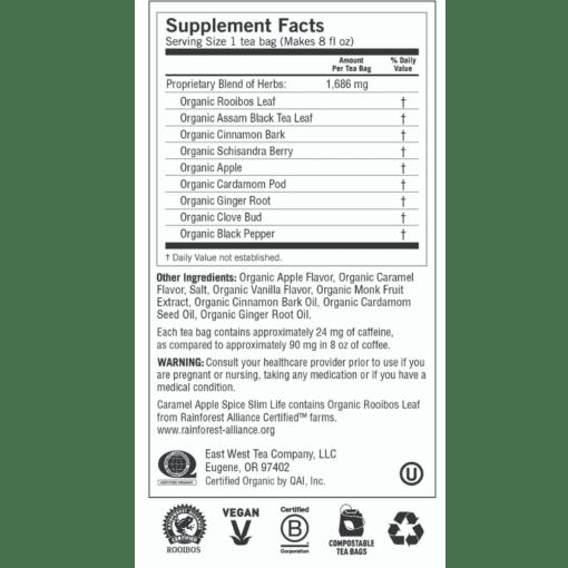 Y20356 Caramel Apple Spice Slim Life Label