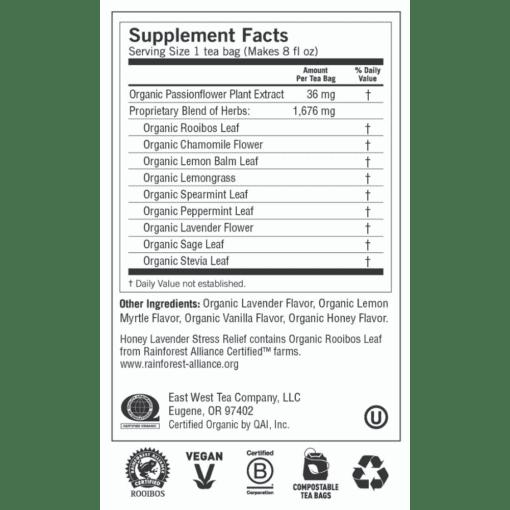 Y20454 Honey Lavender Stress Relief Label 1