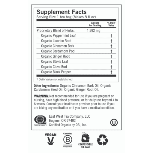 Y41527 Egyptian Licorice Mint Label 2