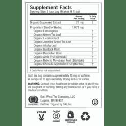 Green Tea Super Antioxidant Label