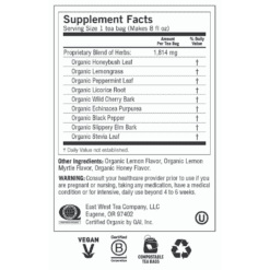 Y45056 Honey Lemon Throat Comfort Label