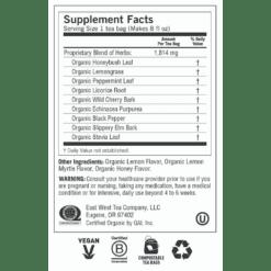 Y45056 Honey Lemon Throat Comfort Label