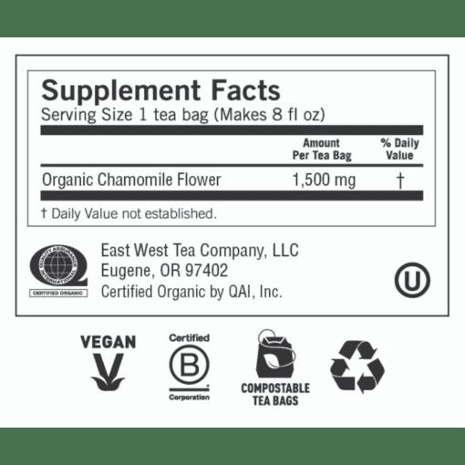 Yogi Teas Comforting Chamomile Label