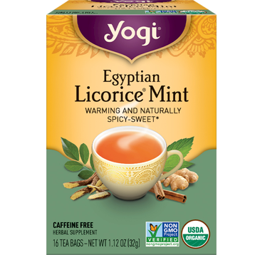 Yogi Teas Egyptian Licorice Mint 16 bags Y41527