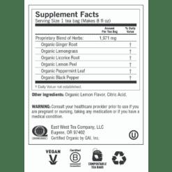 Yogi Teas Lemon Ginger Label