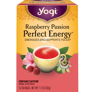 Yogi Teas Perfect Energy Raspberry Passion 16 bags Y20352