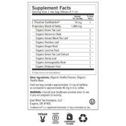 Yogi Teas Perfect Energy Vanilla Spice Label