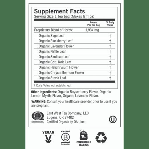 Yogi Teas- Relaxed Mind Label