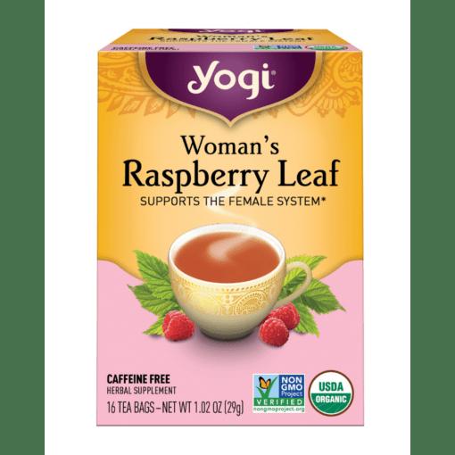 Yogi Teas Womans Raspberry Leaf