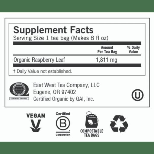 Yogi Teas Womans Raspberry Leaf Label