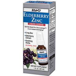 Zand Herbal Elderberry Zinc Liquid Lozenge 1 fl oz Z33247