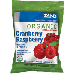 Zand Herbal Herbalozenge Cranberry Raspberry 18 lozenges Z00296