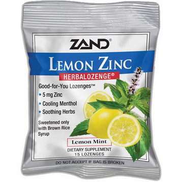 Zand Herbal Lemon Zinc Herbalozenge® 15 lozenges Z0023