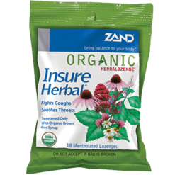 Zand Herbal Organic Herbalozenge Insure 18 lozenges Z35032