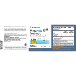 Metagenics MetaKids Probiotic Label