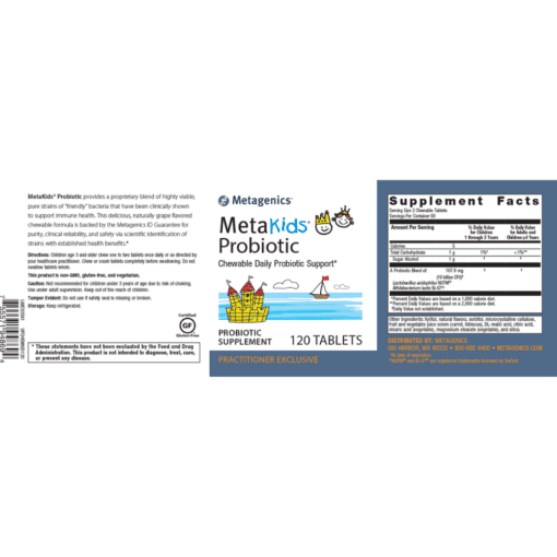 Metagenics MetaKids Probiotic Label